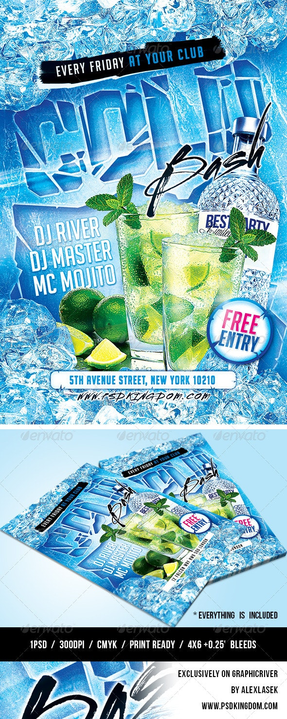 Cold Bash Party Flyer - 4x6 - Clubs & Parties Events