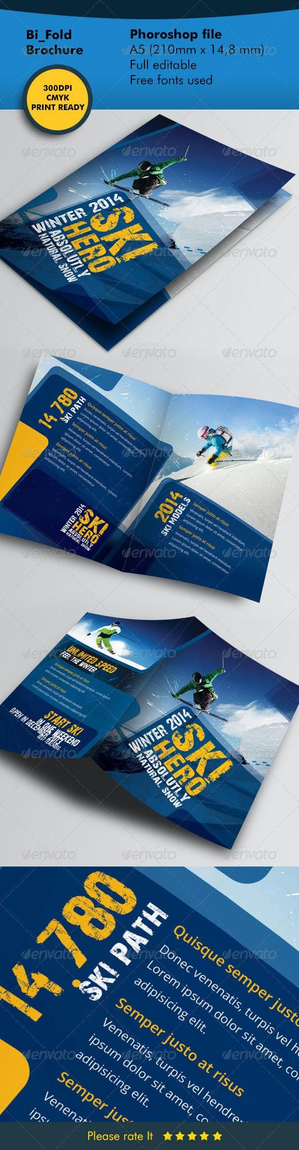 Winter Ski Bifold Template - Informational Brochures
