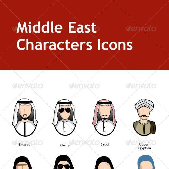Middel Eastern Characters Set