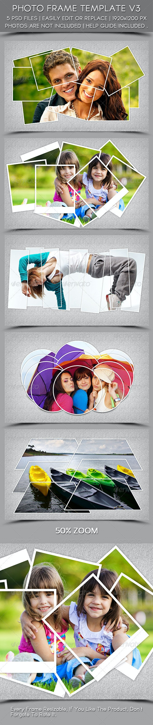 Photo Frame Template V3 - Photo Templates Graphics