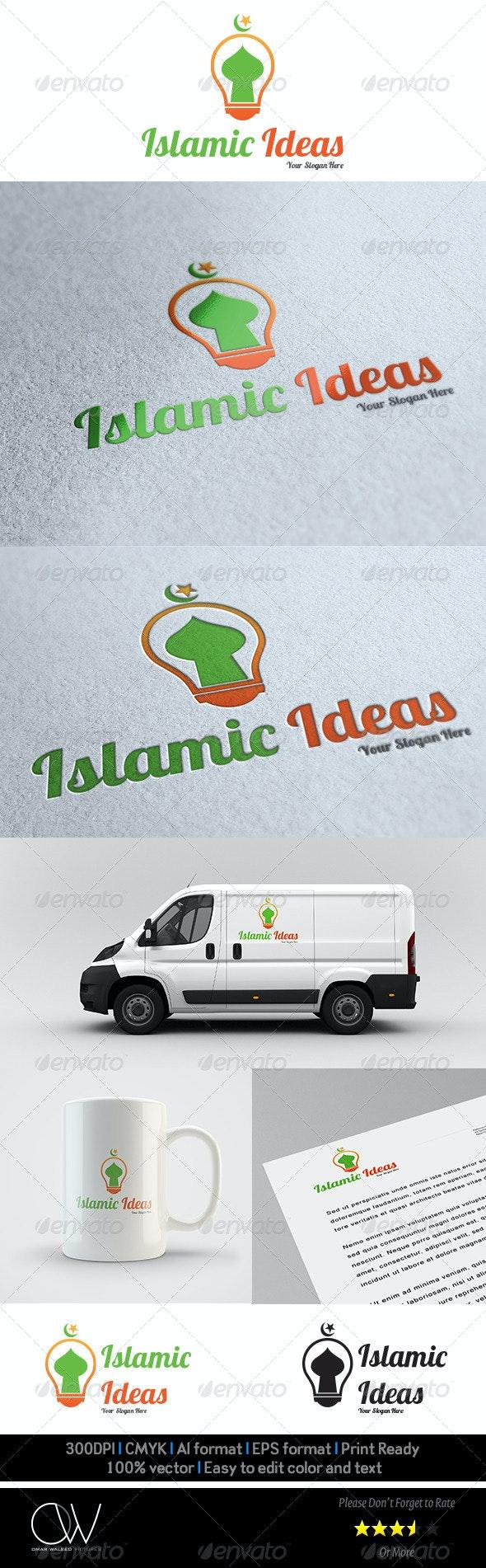 Islamic Ideas Logo Template - Vector Abstract
