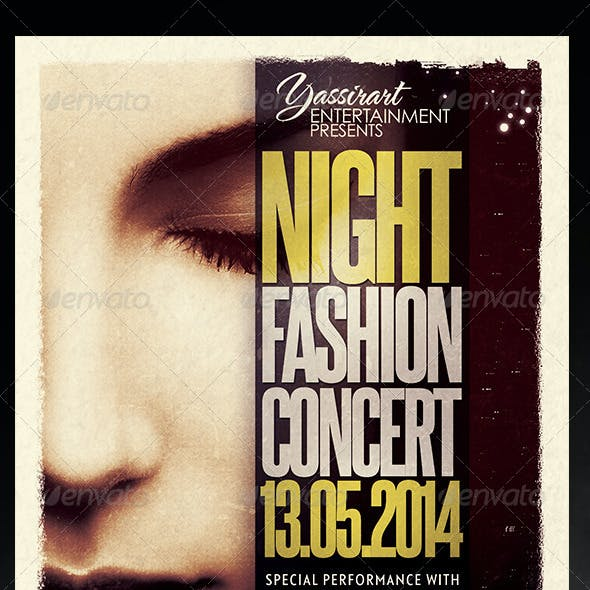 Night Fashion Concert Flyer Template