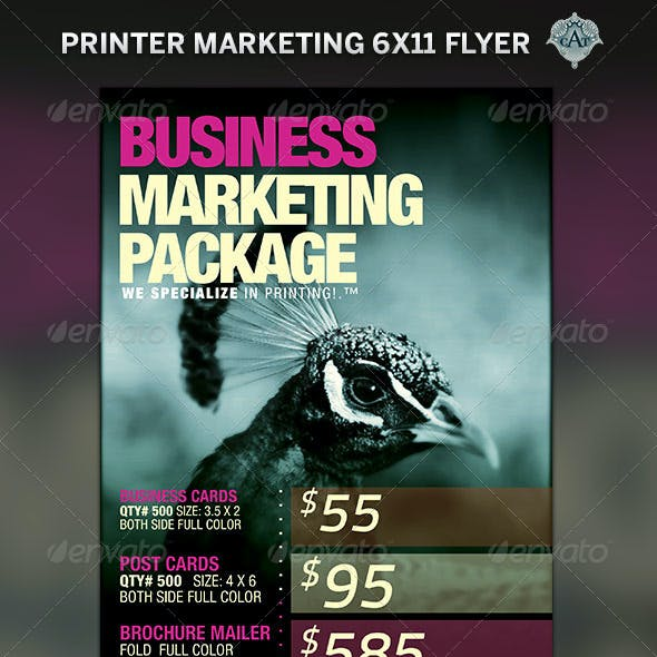 Printer Marketing Flyer Template