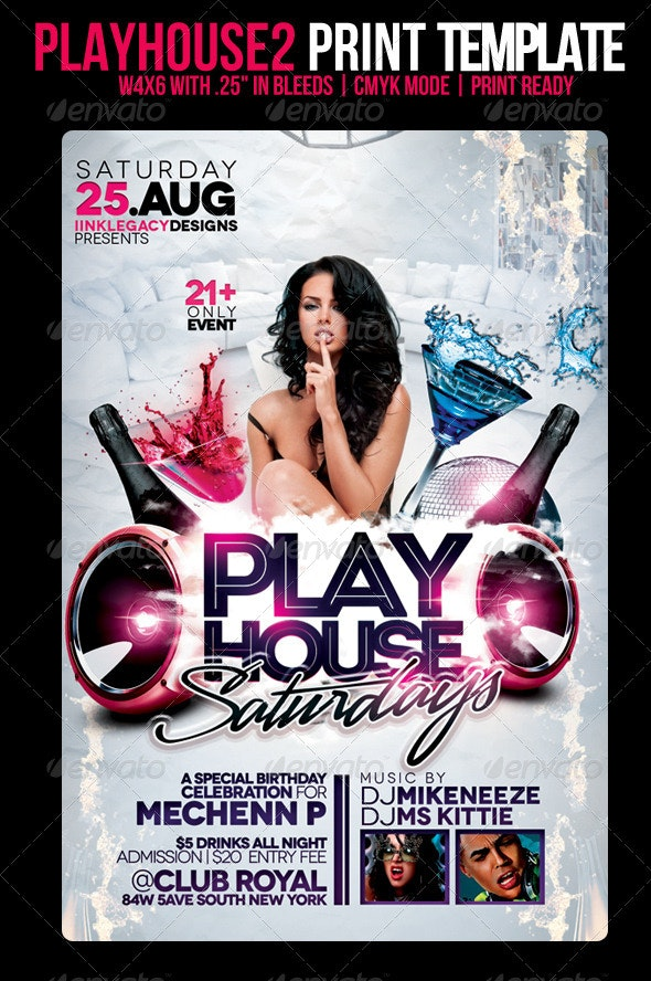 Playhouse 2 - Events Flyers