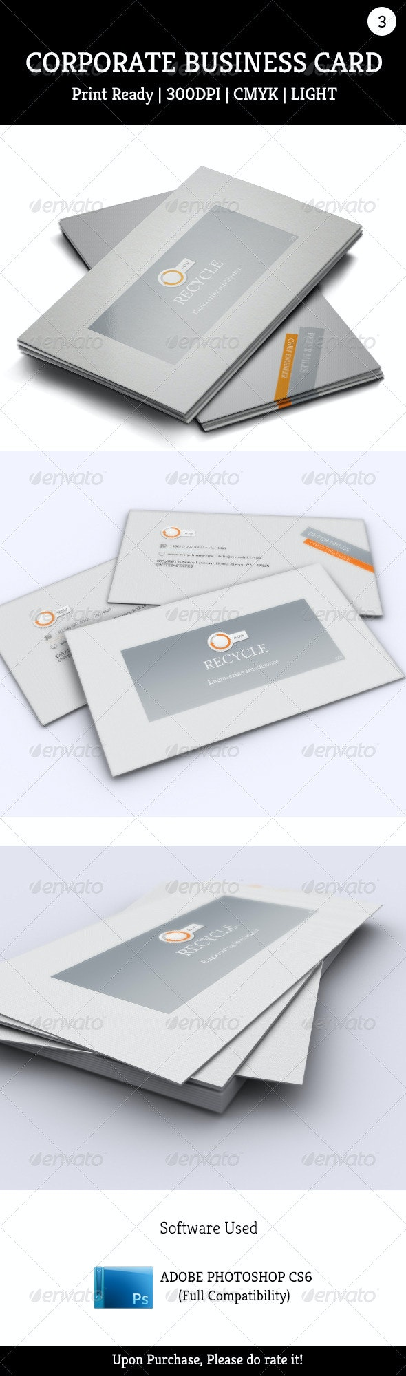 Corporate Business Card 003 - Corporate Business Cards