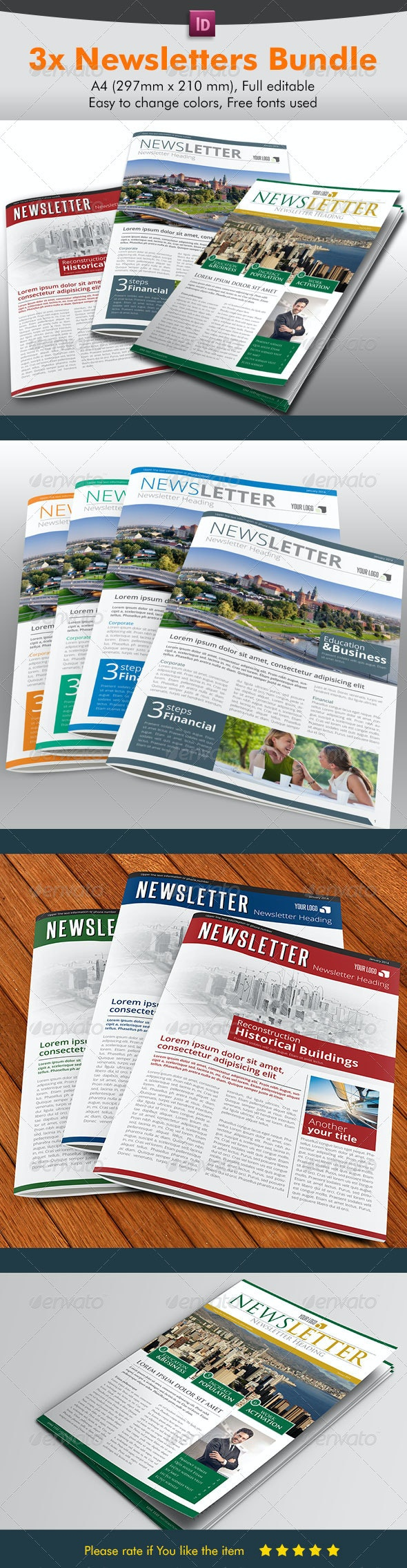 Newsletter Bundle Pack - Newsletters Print Templates