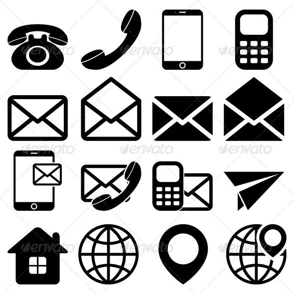 """Contact Us"" Icons Set"