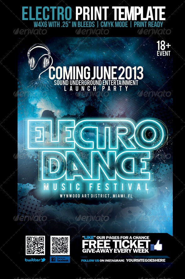 Electro Template - Events Flyers