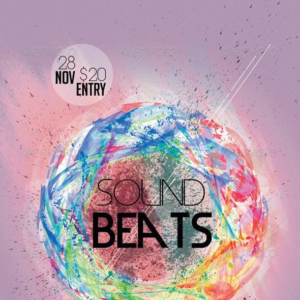 Sound Beats 3 Futuristic Flyer