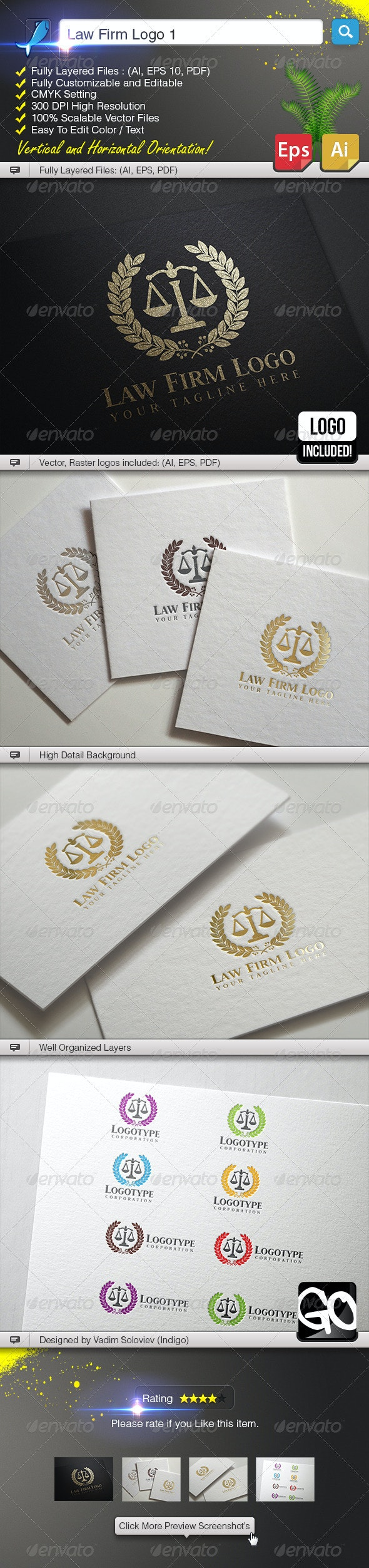 Law Firm Logo 1 - Crests Logo Templates