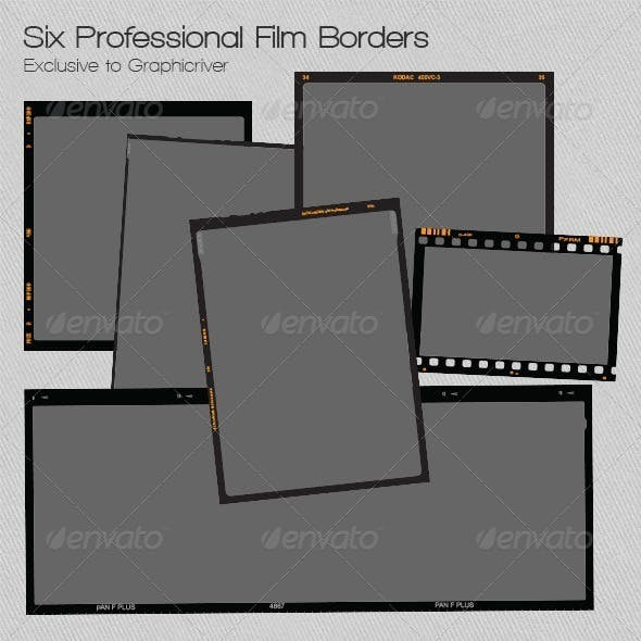 Six Professional Camera Film Borders