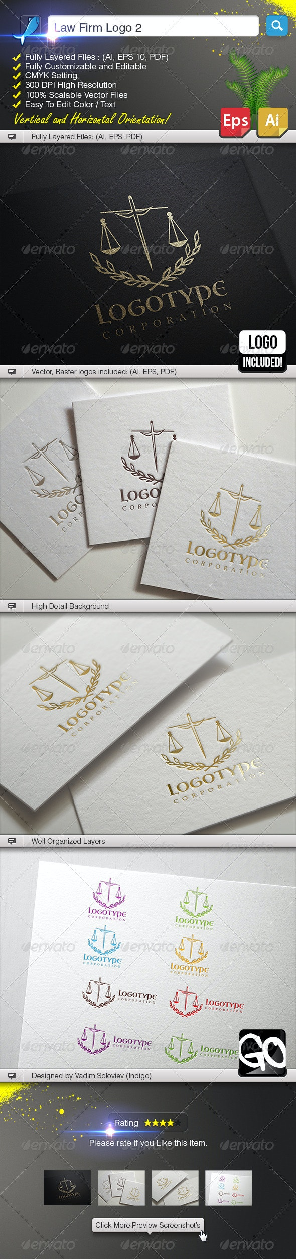 Law Firm Logo 2 - Crests Logo Templates