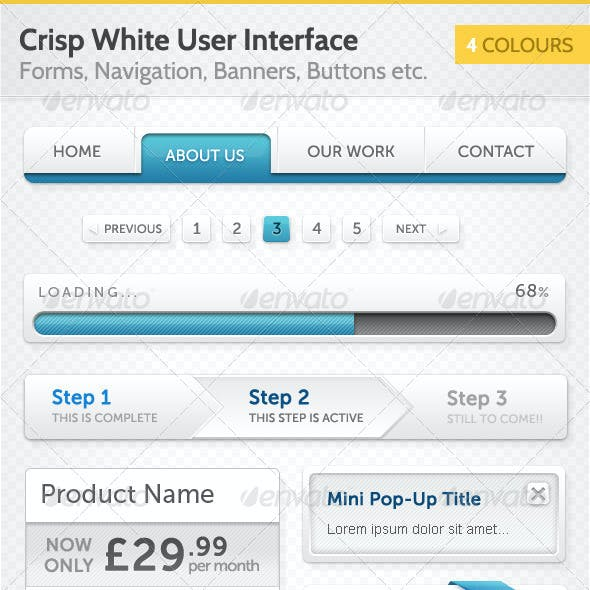 Crisp White User Interface (UI)