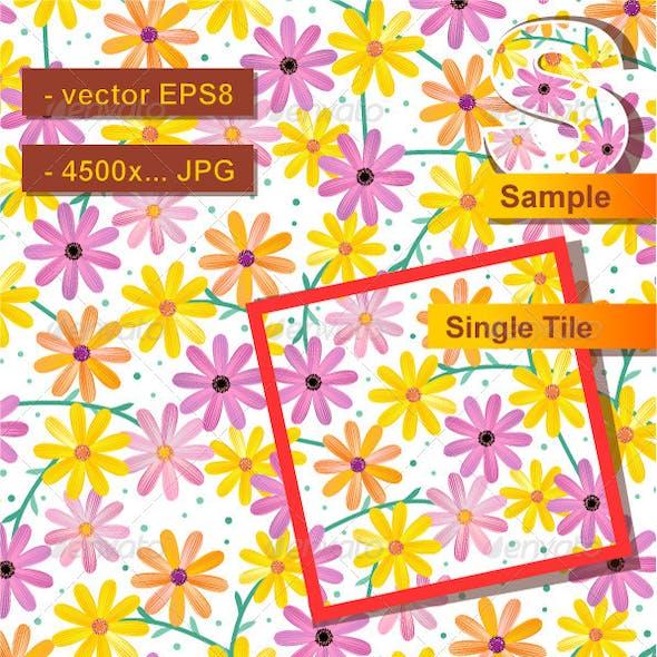 Seamless Gerber Daisy Pattern