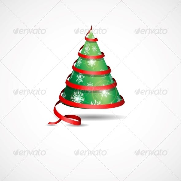 Stylized Ribbon Christmas Tree.
