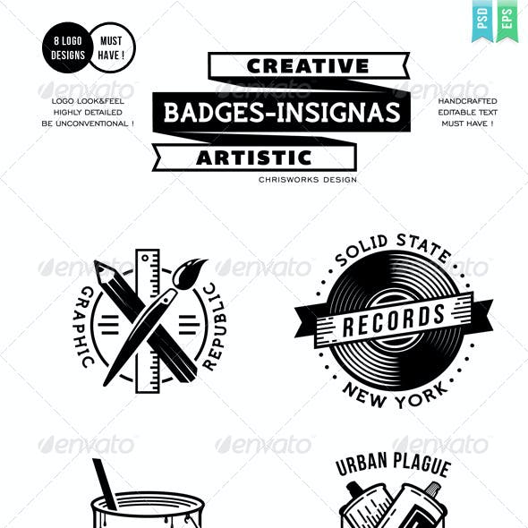 Creative Badges Insignias