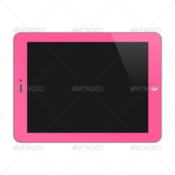 Realistic Concept Of Tablet PC, Blank Screen.