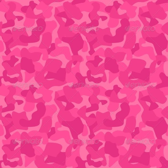 Seamless Camouflage Pattern for Girls