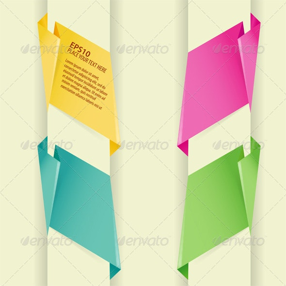 Collect Paper Origami Banner - Concepts Business