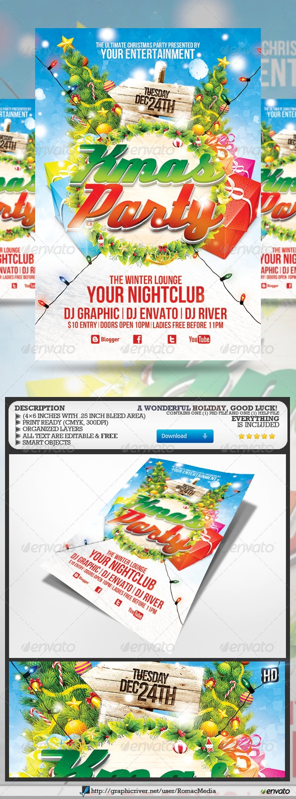 Xmas Party Flyer - Clubs & Parties Events