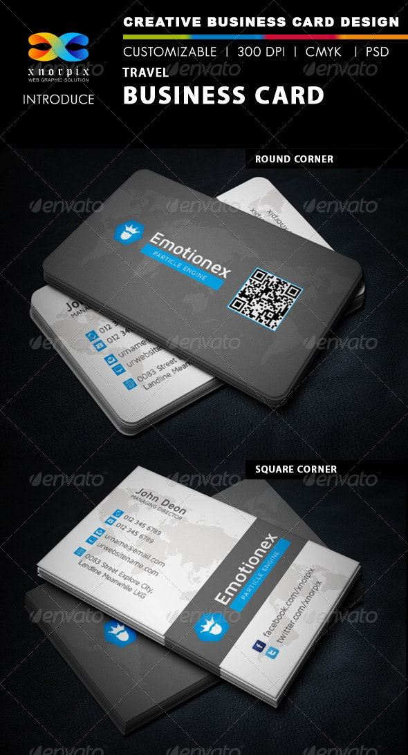 Travel Business Card - Corporate Business Cards