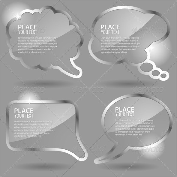 Glass Speech Bubbles - Communications Technology