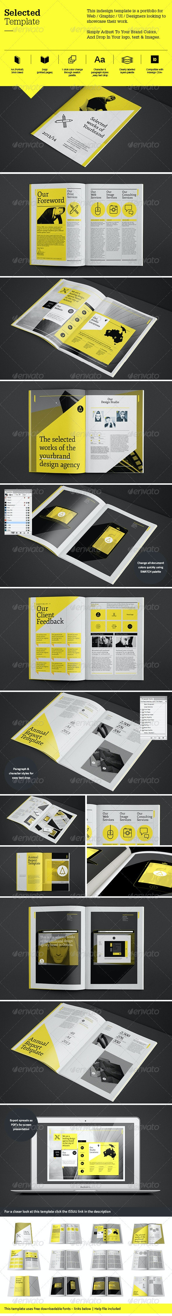 Selected Template - Portfolio Brochures