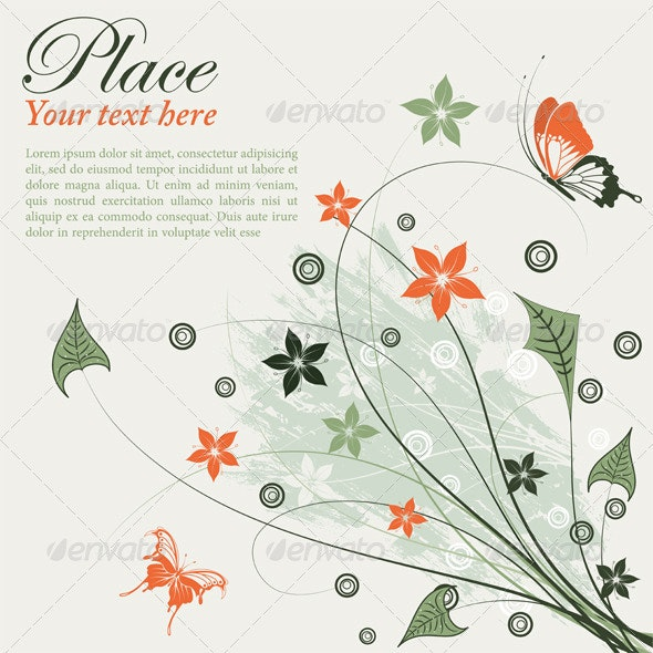 Floral frame - Miscellaneous Seasons/Holidays