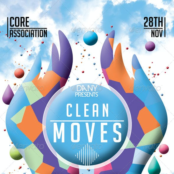Clean Moves Futuristic Flyer 10