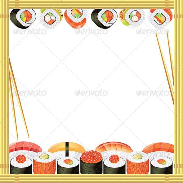Sushi Frame Vector Background