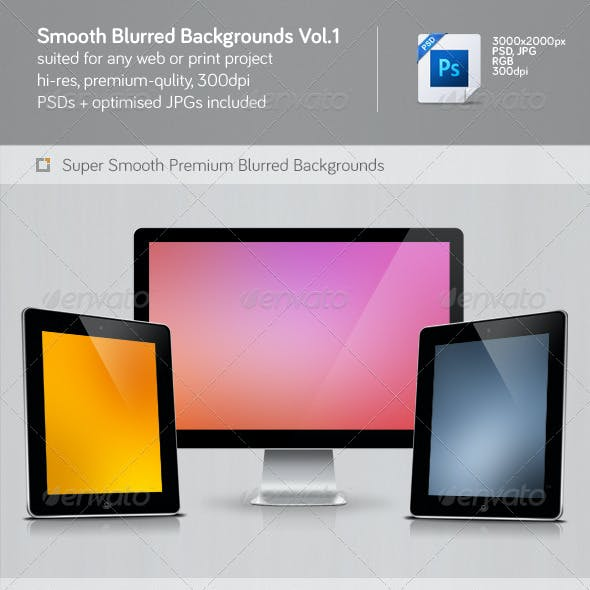 Smooth Blurred Backgrounds Vol.1