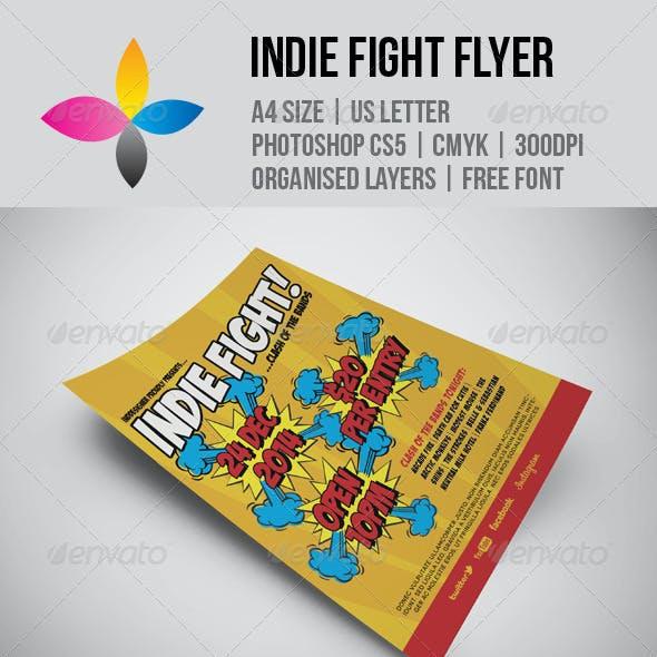Indie Fight Flyer