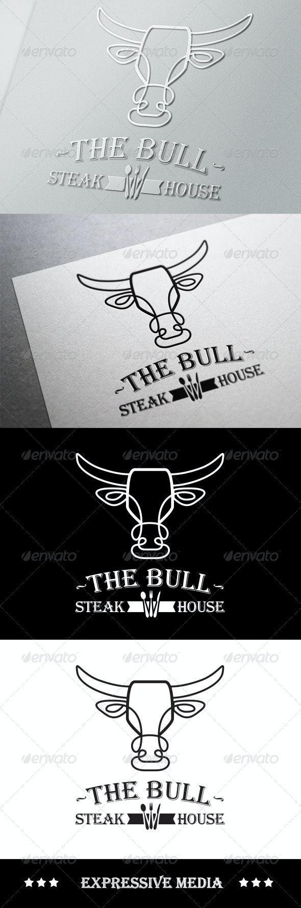The Bull - Steak House - Food Logo Templates