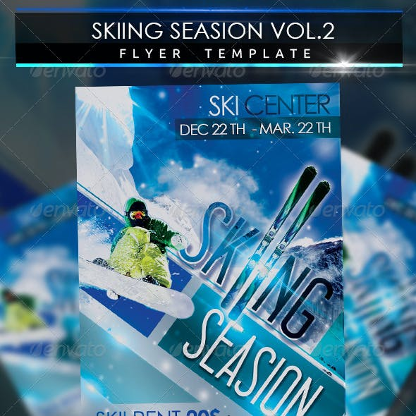 Skiing Season Flyer Template Vol 2