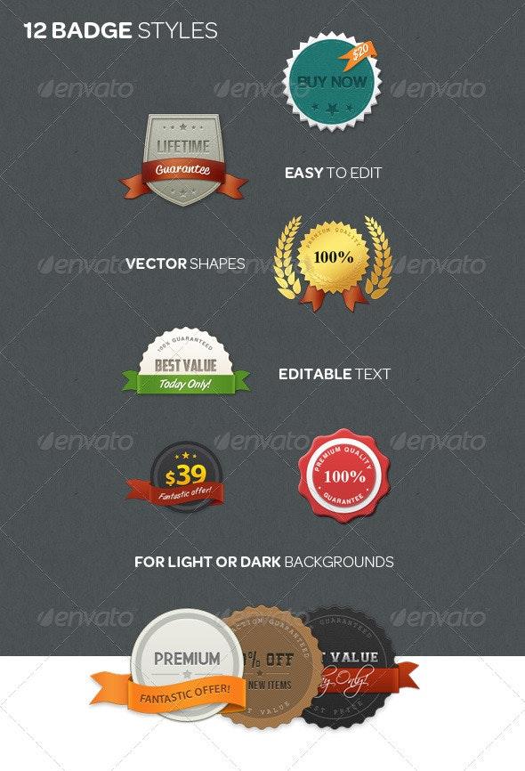 Web Badge Kit - Badges & Stickers Web Elements