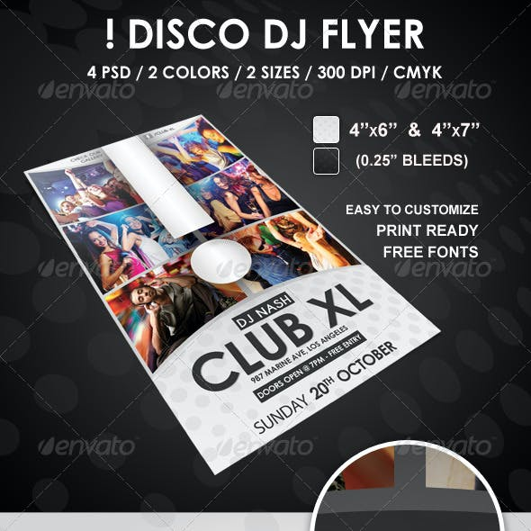 Disco DJ Flyer