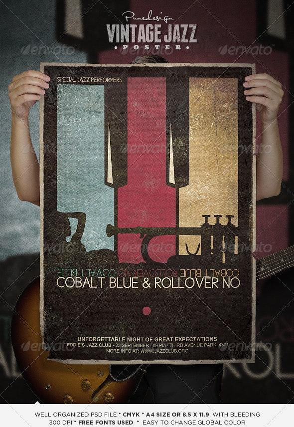 Vintage Jazz Poster - Concerts Events