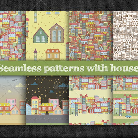 Seamless Patterns with Houses