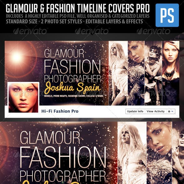 Glamour & Fashion Facebook Timeline Cover Pro