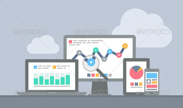 Website and Mobile Analytics Concept - Web Technology