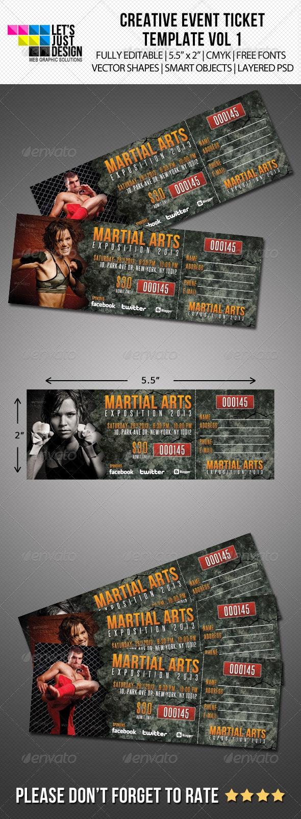 Creative Event Ticket Vol 1 - Miscellaneous Print Templates