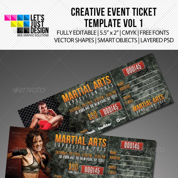 Creative Event Ticket Vol 1