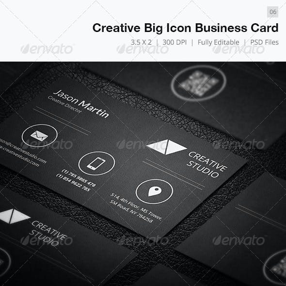 Creative Big Icon Business Card - 06