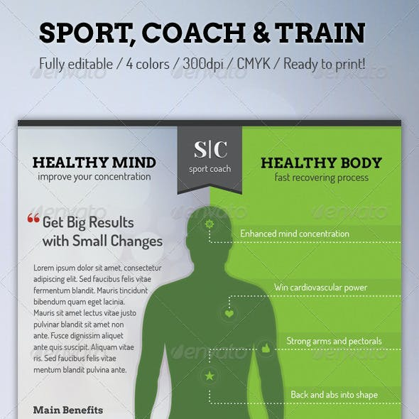 Sport Coach and Train Flyer