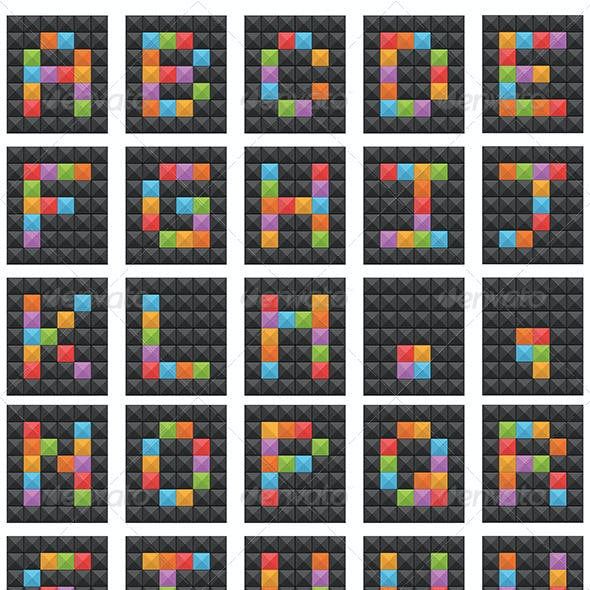 Square Vector Alphabet