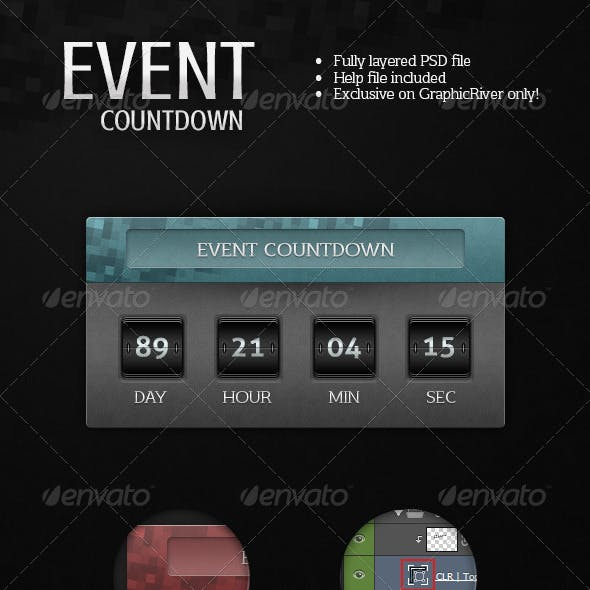 Event Countdown Graphics Designs Templates From Graphicriver