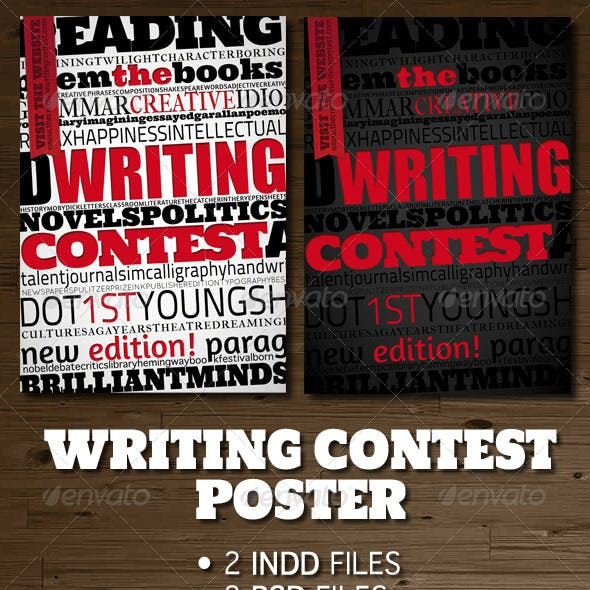 Writing Contest Poster / Flyer