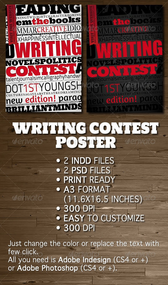 Writing Contest Poster / Flyer - Miscellaneous Events