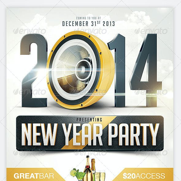 2014 New Years Eve Party Flyer