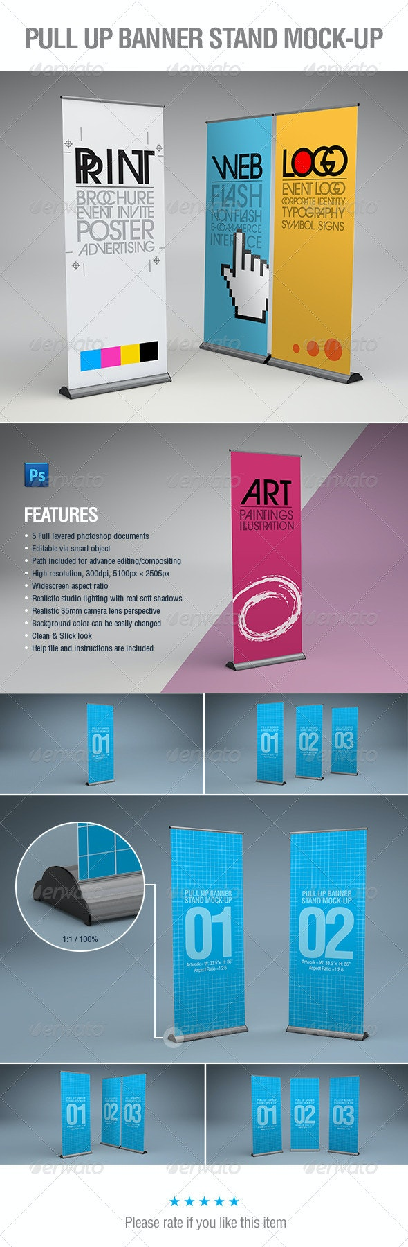 Pull-Up Banner Stand Mock-Up - Signage Print